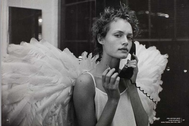 amber valletta, harpers bazaar, peter lindbergh, angel