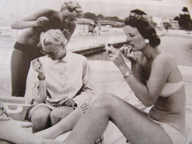 vintage beach photo, black and white photo