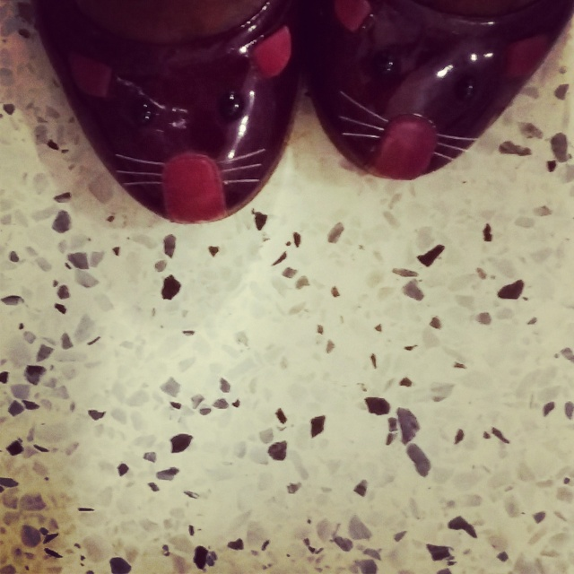 red shoes, mouse shoes, Marc by Marc Jacobs shoes, red flats, animal shoes