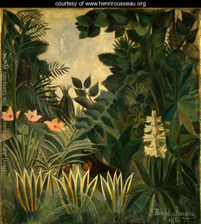 The Equatorial Jungle - Henri Rousseau source, henrirosseau.org