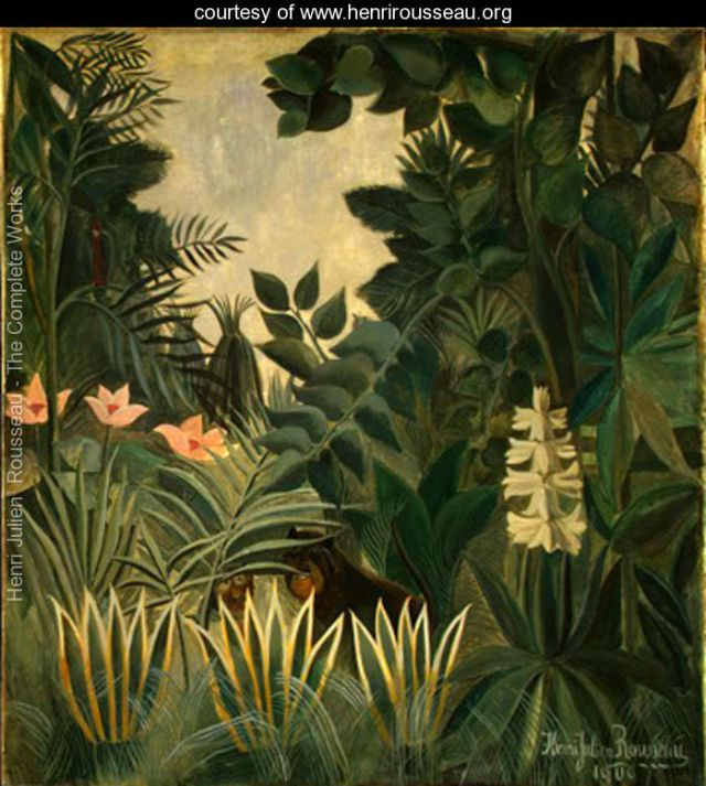 The Equatorial Jungle - Henri Rousseau source, henrirosseau.org